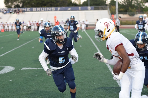 Junior Paul Fonkwo proved to Cupertino that he is one to look out for as he broke through the defense.