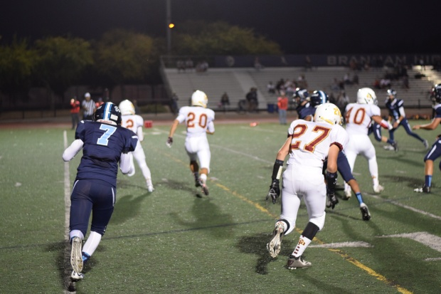 In the end, Branham came out on top over Cupertino 33-27.