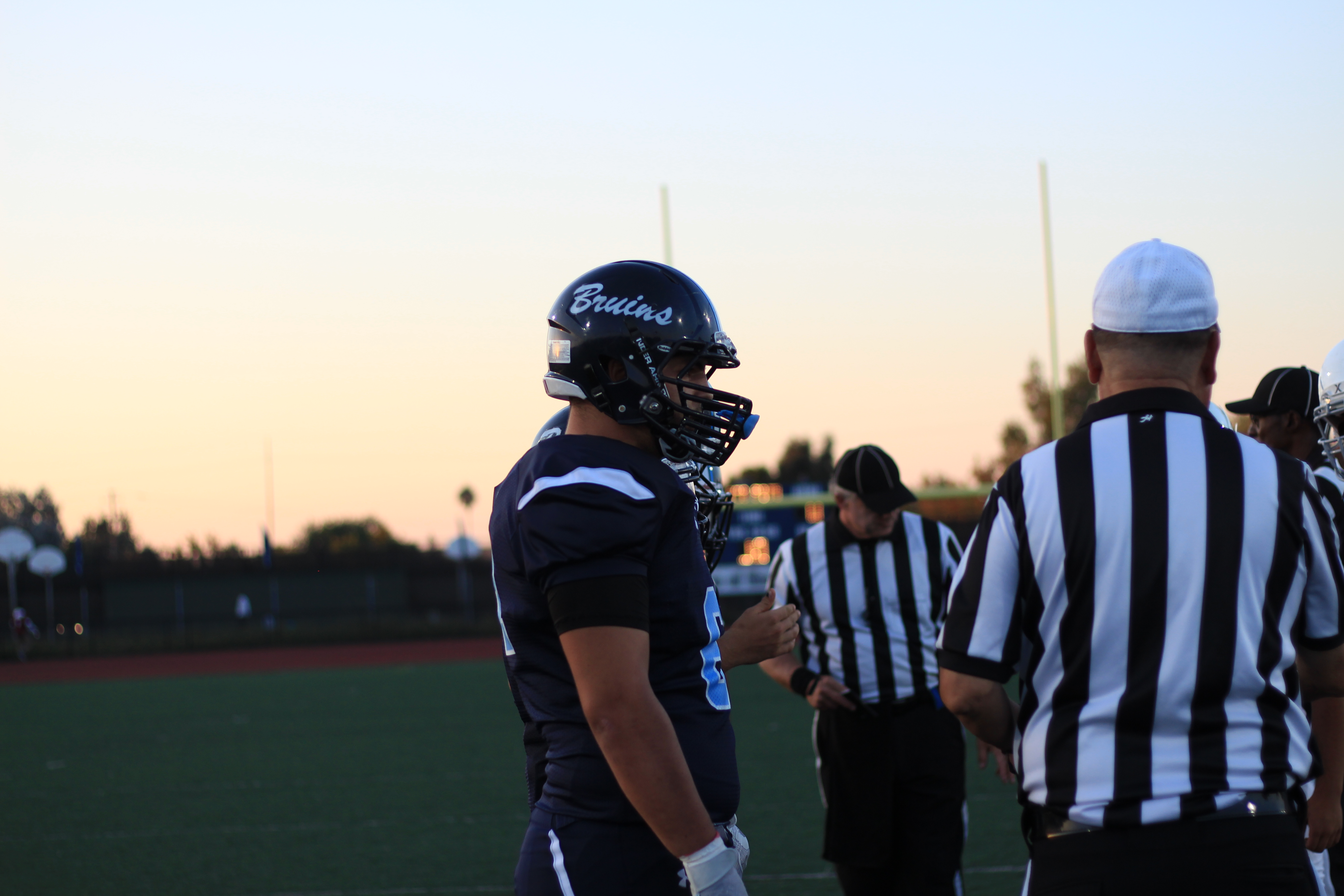 Senior Gavin Rodinsky is also the captain of our football team and kept our Bruins heads up when we were down in the first half.